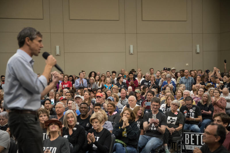 Beto O'Rourke performed better than any statewide Texas Democrat in decades by running as an unapologetic progressive. (Loren Elliott via Getty Images)