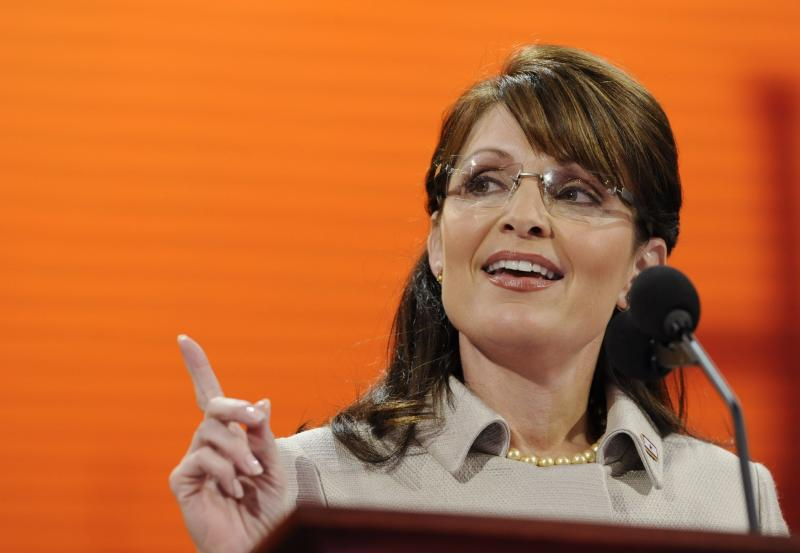 "FILE - In this Sept. 3, 2008, file photo, Republican vice presidential candidate, Alaska Gov. Sarah Palin, speaks during the Republican National Convention in St. Paul, Minn. Republicans heading to their 2012 party convention in Tampa are eager to hear an earful about the shortcomings of President Barack Obama's record, the woeful U.S. economy and the competing visions of the two presidential candidates. They aren't looking for compromise, which most Americans say is necessary to get the nation on track. The delegates hear rhetoric that is brutal, vitriolic and far from conciliatory. Some lines from both conventions are memorable. Comparing her mayoral experience in Wasilla to that of Democratic nominee Barack Obama, Palin said, ""I guess a small-town mayor is sort of like a community organizer, expect that you have actual responsibilities."" (AP Photo/Susan Walsh, File)"