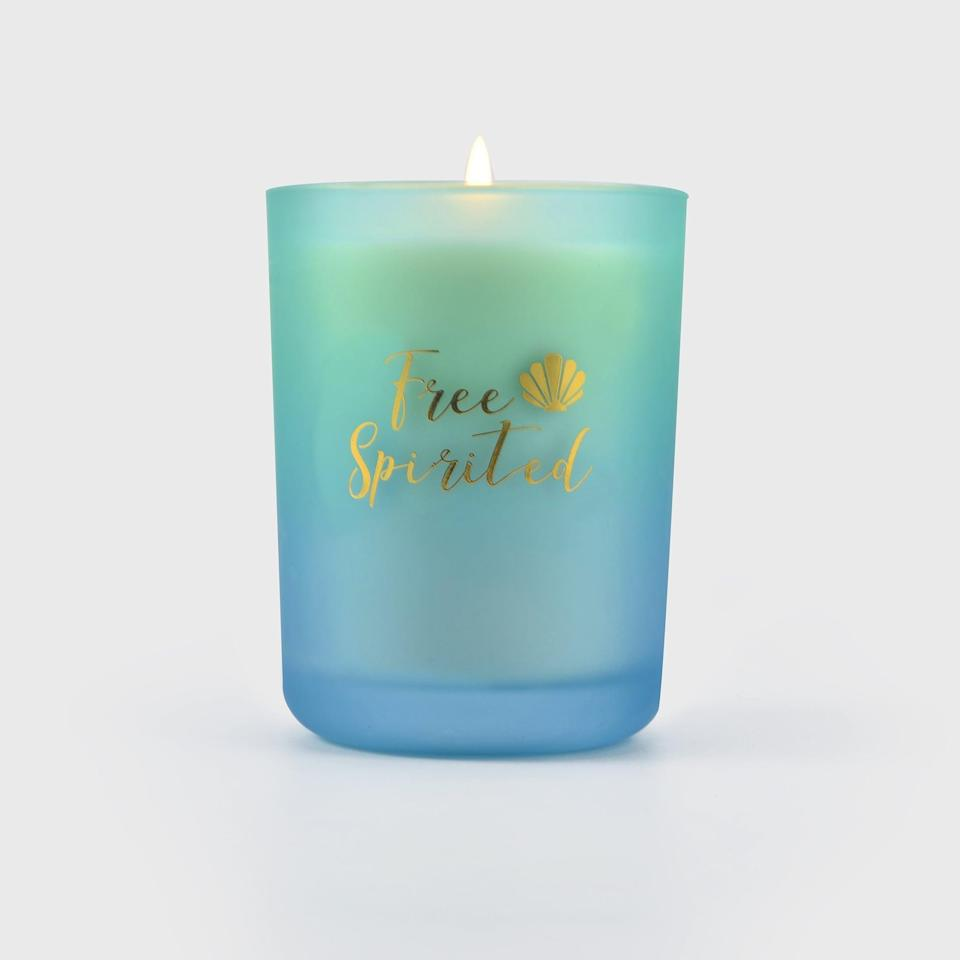 <p>If you can't go on vacation, bring a slice of paradise home with the <span>Disney Princess X POPSUGAR Ariel Candle</span> ($13). This candle is perfect for those whose heart and home away from home is at the beach. If you love fresh scents, the candle has an aromatic blend of sea salt, lime, and basil. Light this candle for when you want to truly embrace those summer vibes and live life to the fullest. Inspired by Disney's <strong>The Little Mermaid</strong>, the Ariel candle comes in a mesmerizing frosted teal sea glass-colored candle container and an elegant shiny gold lid.</p>