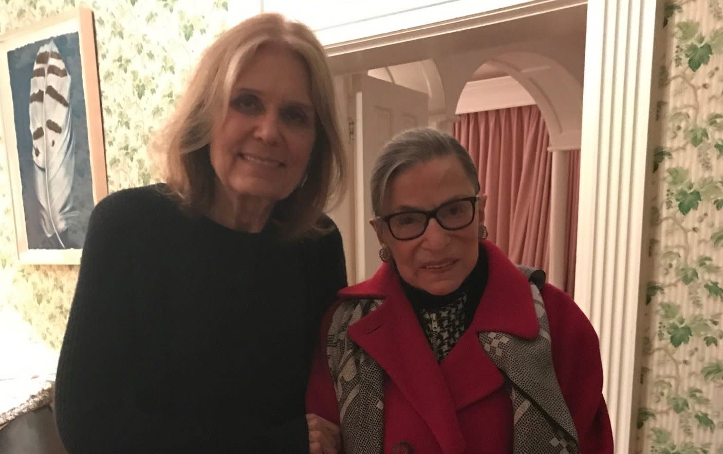Gloria Steinem and Ruth Bader Ginsburg were longtime allies and friends (Photo: Gloria Steinem/Twitter)