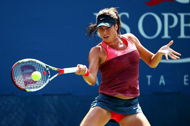 Ajla Tomljanovic faces Simona Halep (AFP Photo/AL BELLO)