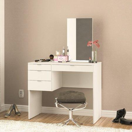 A pretty primping station with four handy drawers? Bring it on. (Photo: Walmart)