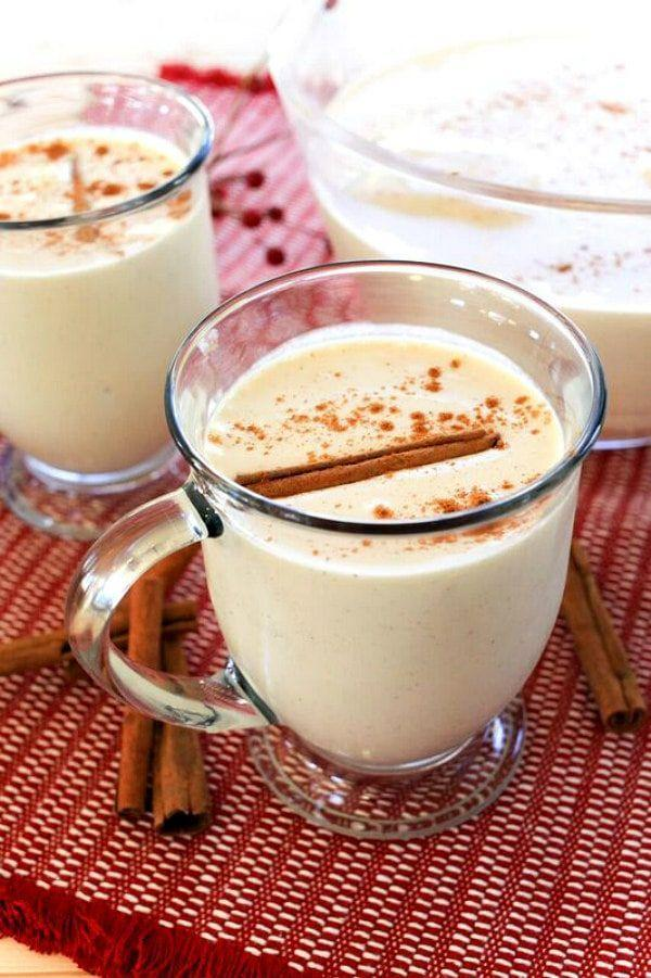 """<p>There's something extra special in this eggnog recipe: ice cream! Just add a few dashes of spice, and you've got yourself the creamiest drink around.</p><p><strong>Get the recipe at <a href=""""https://www.recipegirl.com/eggnog-punch/"""" rel=""""nofollow noopener"""" target=""""_blank"""" data-ylk=""""slk:Recipe Girl"""" class=""""link rapid-noclick-resp"""">Recipe Girl</a>.</strong> </p>"""