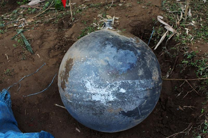 Vietnamese authorities say the metal balls could have fallen from space, from an altitude of less than 100 kilometres (62 miles) (AFP Photo/STR)
