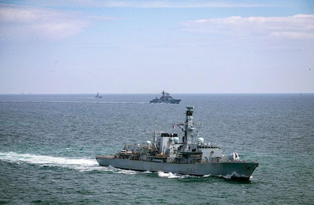 Royal Navy ships shadow Russian destroyer