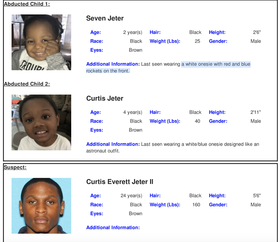 An Amber Alert has been issued for two Dallas children, the Texas Department of Public Safety announced Monday evening.