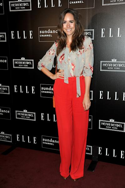 """FILE - This Sept. 19, 2012 file photo shows Louise Roe, Glamour magazine's editor at large and the new host of NBC's """"Fashion Star,"""" attending All on the Line with Joe Zee at Soho House on in West Hollywood, Calif. (Photo by Richard Shotwell/Invision/AP)"""