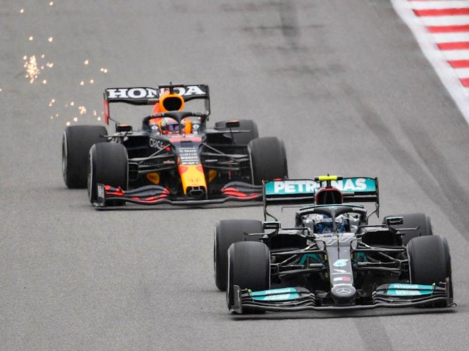 Red Bull and Mercedes are fighting it out for the Formula 1 drivers' championship (AFP/Getty)