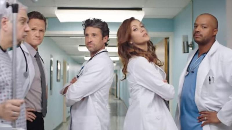 Kate Walsh And Patrick Dempsey Have Surprise Greys Anatomy