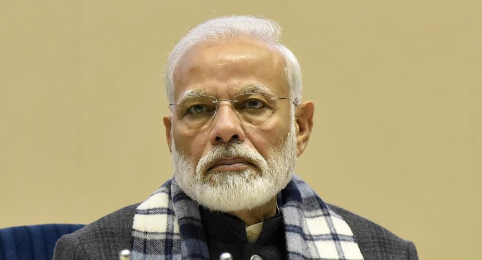 Prime Minister Narendra Modi at the ASSOCHAM annual conference 'New India: Aspiring $5 Trillion Economy', at Vigyan Bhawan on December 20, 2019 in New Delhi. Photo: Sonu Mehta/Hindustan Times via Getty Images