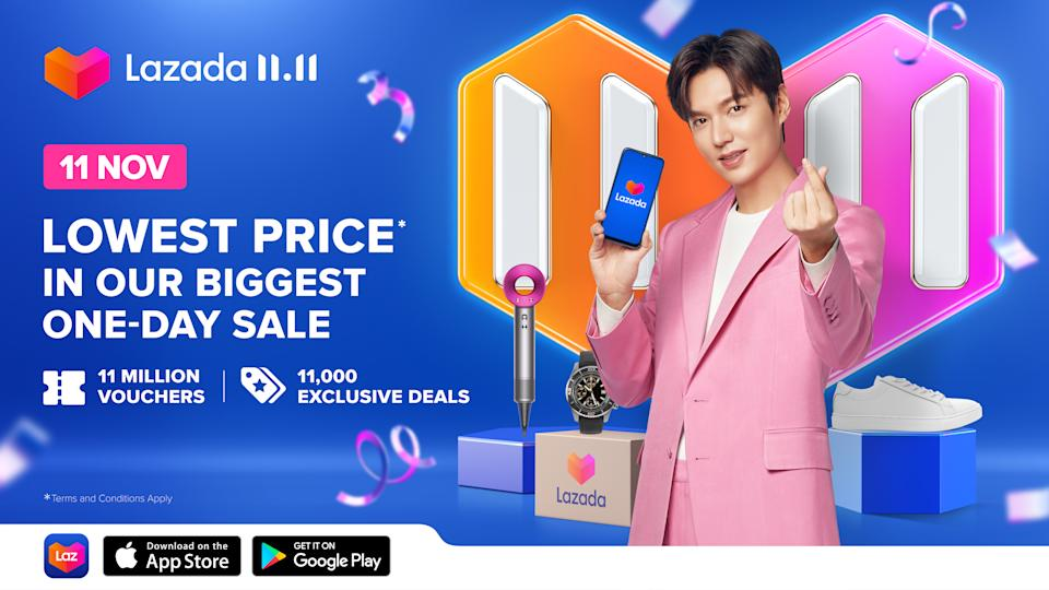 S.Korean actor Lee Min-ho is Lazada's first regional brand ambassador. (PHOTO: Lazada)