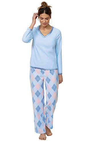 """<p><strong>PajamaGram</strong></p><p>amazon.com</p><p><strong>$70.99</strong></p><p><a href=""""https://www.amazon.com/dp/B004DB6BR8?tag=syn-yahoo-20&ascsubtag=%5Bartid%7C2141.g.37664571%5Bsrc%7Cyahoo-us"""" rel=""""nofollow noopener"""" target=""""_blank"""" data-ylk=""""slk:Shop Now"""" class=""""link rapid-noclick-resp"""">Shop Now</a></p><p>This adorable set is super gift-worthy thanks to its <strong>sophisticated print and satin-lined details</strong>. According to one Amazon shopper, it's also """"not too light weight and not too heavy/hot to wear to bed,"""" which is a plus.</p>"""