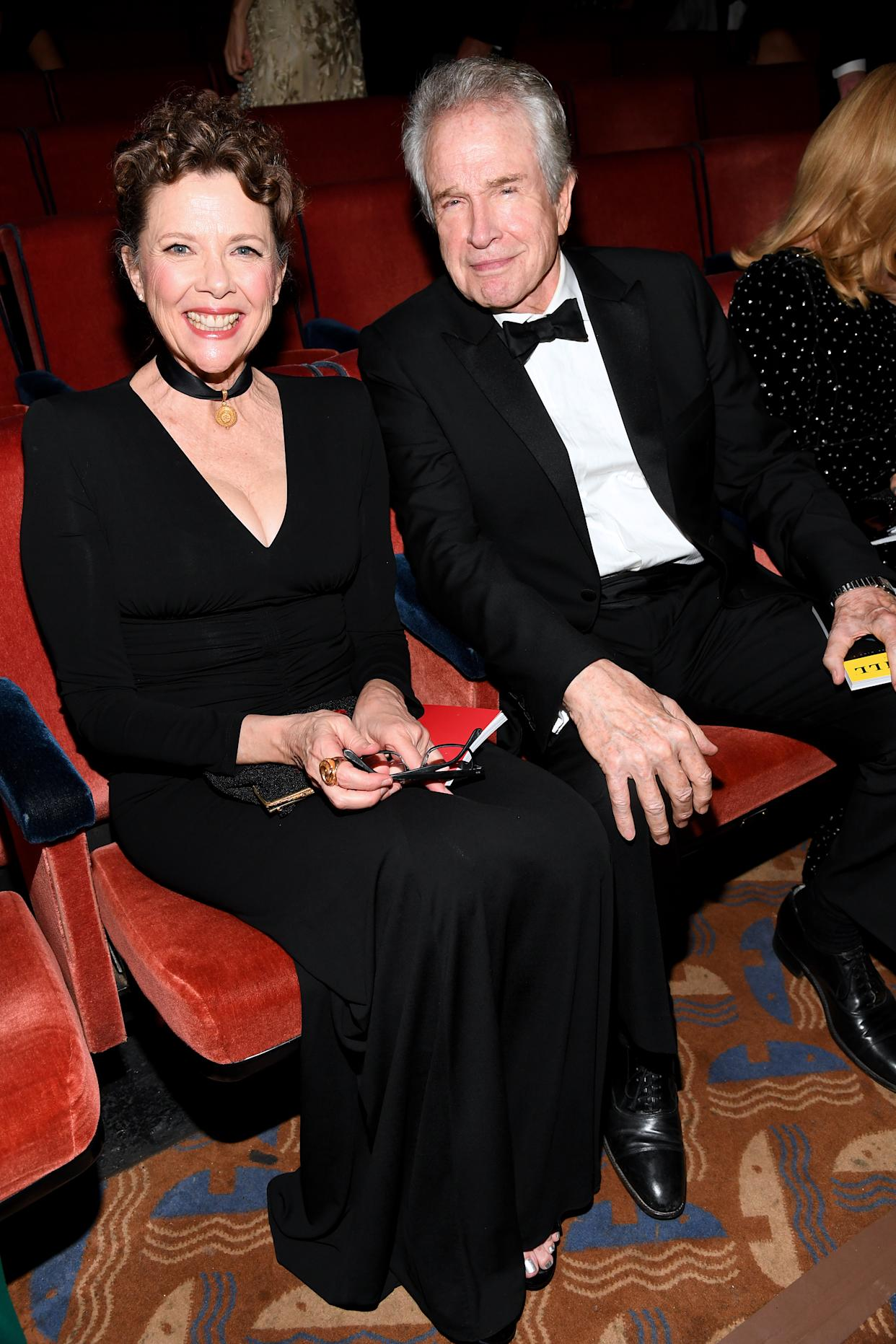 NEW YORK, NEW YORK - JUNE 09: Annette Bening and Warren Beatty  attend the 73rd Annual Tony Awards at Radio City Music Hall on June 09, 2019 in New York City. (Photo by Kevin Mazur/Getty Images for Tony Awards Productions)