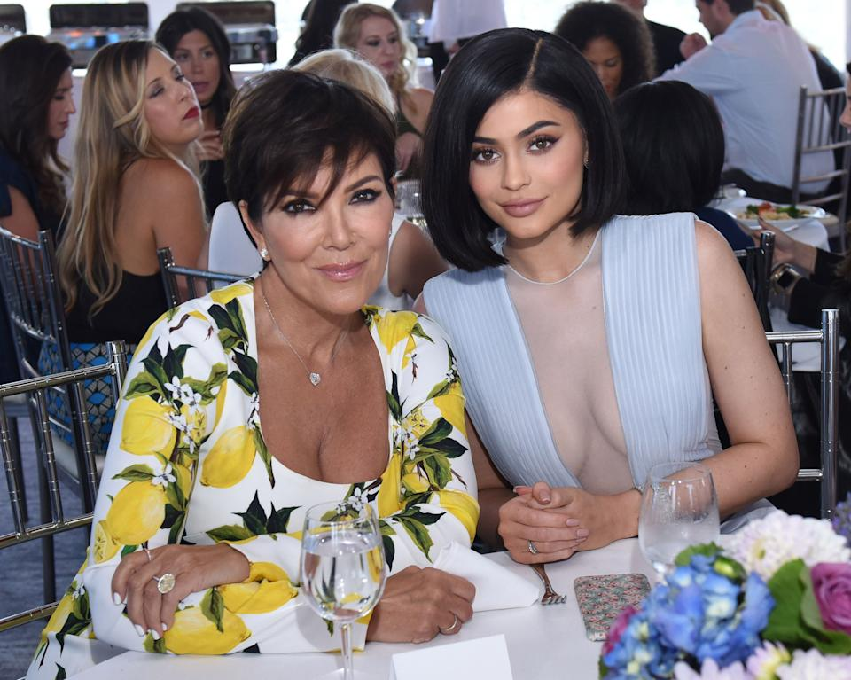 Kris and Kylie Jenner at event