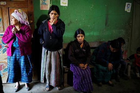 FILE PHOTO: The family of Felipe Gomez Alonzo, a 8-year-old boy detained alongside his father for illegally entering the U.S., who fell ill and died in the custody of U.S. Customs and Border Protection (CBP), is seen at the family's home in the village of Yalambojoch, Guatemala December 27, 2018. REUTERS/Luis Echeverria