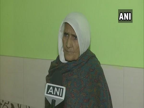 Shaheen Bagh activist Bilkis Bano speaking to ANI on Tuesday. (Photo/ANI)