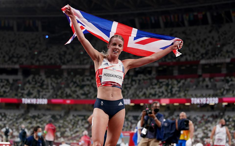 The teenager broke Dame Kelly Holmes' UK record at that distance (Martin Rickett/PA) (PA Wire)