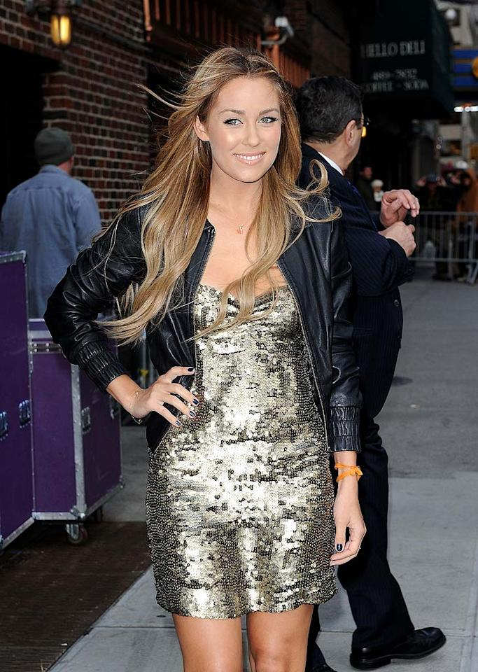 "Speaking of Lauren Conrad (seen outside Thursday's ""Late Show with David Letterman""), the reality starlet-turned-designer will be launching a clothing line for discount department store Kohls. High-end boutiques stopped carrying her eponymous line earlier this year. James Devaney/<a href=""http://www.wireimage.com"" target=""new"">WireImage.com</a> - April 23, 2009"