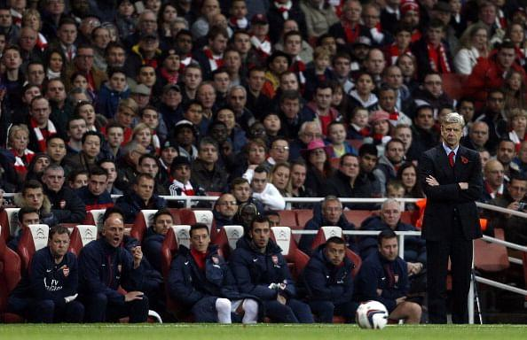 Arsene Wenger during Arsenal's Capital One Cup clash against derby rivals Chelsea
