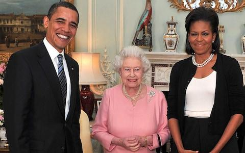 Obamas meet the Queen - Credit: John Stillwell/PA