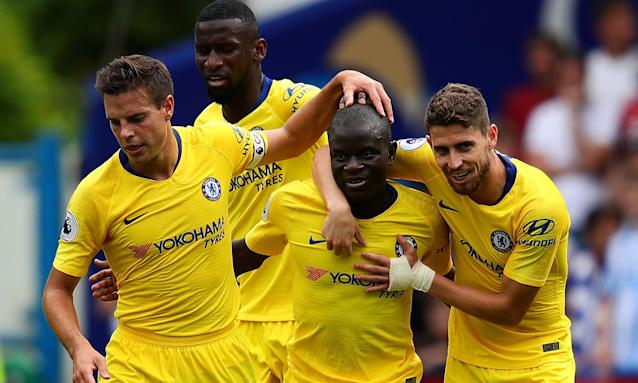 On fire: Chelsea's N'Golo Kanté is having the time of his life right now