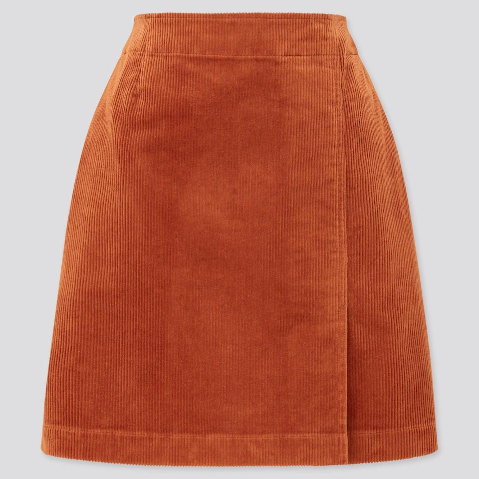 """<br><br><strong>Uniqlo</strong> Corduroy Mini Skirt, $, available at <a href=""""https://www.uniqlo.com/uk/en/product/women-corduroy-mini-skirt-432284COL69INS030000.html"""" rel=""""nofollow noopener"""" target=""""_blank"""" data-ylk=""""slk:Uniqlo"""" class=""""link rapid-noclick-resp"""">Uniqlo</a>"""