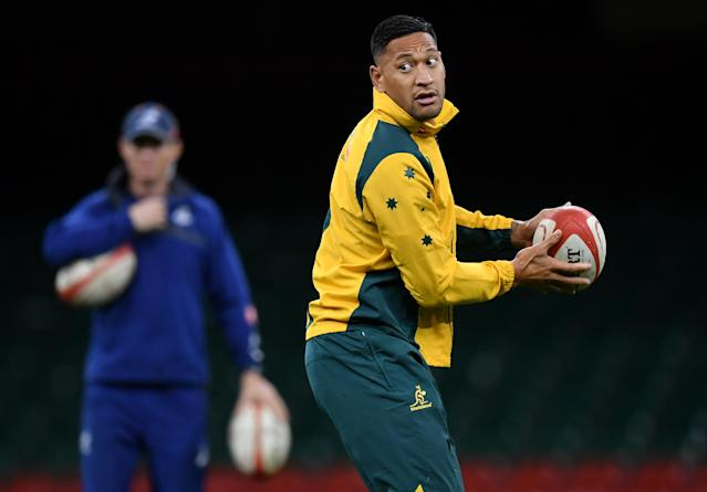 Israel Folau has won 73 caps for Australia.