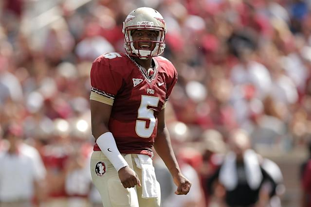 Jameis Winston issued citation for shoplifting crab legs, suspended from baseball