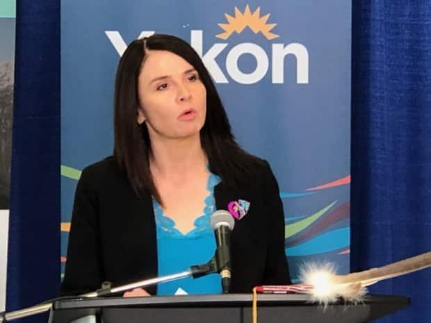 'We are confident that we can safely return students to the classroom in the coming weeks,' said Minister Jeanie McLean at a news conference on Wednesday morning. (Mike Rudyk/CBC - image credit)