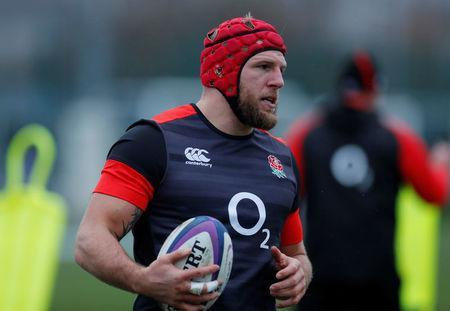 Rugby Union - England Training - Latymer Upper School, London, Britain - February 14, 2018 England's James Haskell during training Action Images via Reuters/Andrew Couldridge/File Photo