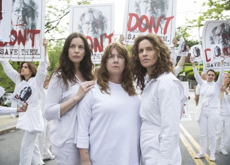 The Guilty Remnant (left to right: Liv Tyler, Ann Dowd. Amy Brenneman)