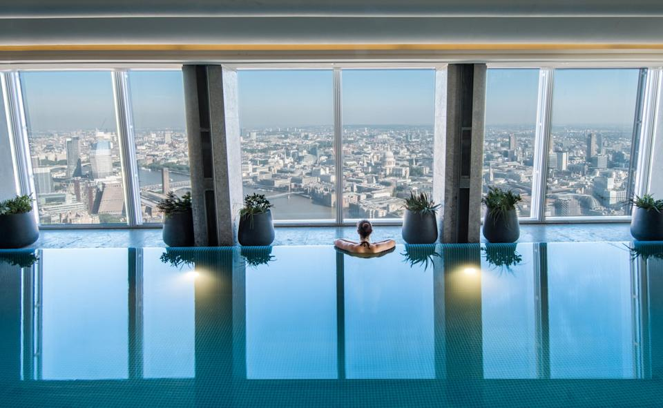 The vertiginous pool at Shangri-La LondonShangri-La