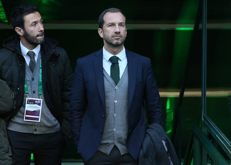 LISBON, PORTUGAL - FEBRUARY 3: Frederico Varandas of Sporting CP before the start of the Liga NOS match between Sporting CP and SL Benfica at Estadio Jose Alvalade on February 3, 2019 in Lisbon, Portugal. (Photo by Gualter Fatia/Getty Images)