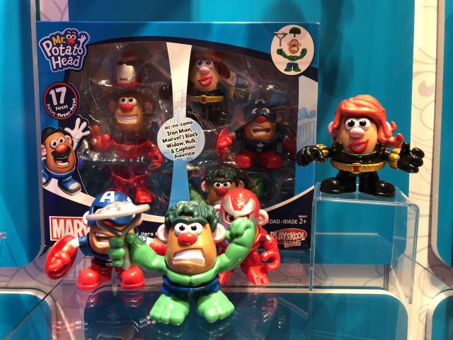 <p>Get an infinity of superhero-clad Potato Heads in this <em>Avengers: Infinity War </em>set, containing costumes for the Hulk, Iron Man, and Black Widow. (Photo: Adam Lance Garcia) </p>