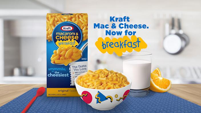 Mac and Cheese got a pass to become a breakfast food. Well, at least from the folks at Kraft. (Kraft Heinz)