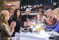 """<p>It takes hard work to make TV gold like the <em>Real Housewives </em>franchise, and not just from the producers's end. The women are logging <a href=""""https://www.bravotv.com/the-daily-dish/real-housewives-of-new-jersey-behind-the-scenes-secrets-spoilers"""" rel=""""nofollow noopener"""" target=""""_blank"""" data-ylk=""""slk:six-day work weeks"""" class=""""link rapid-noclick-resp"""">six-day work weeks</a> for 14 weeks during their season—and that's on top of any other job that they might have. </p>"""