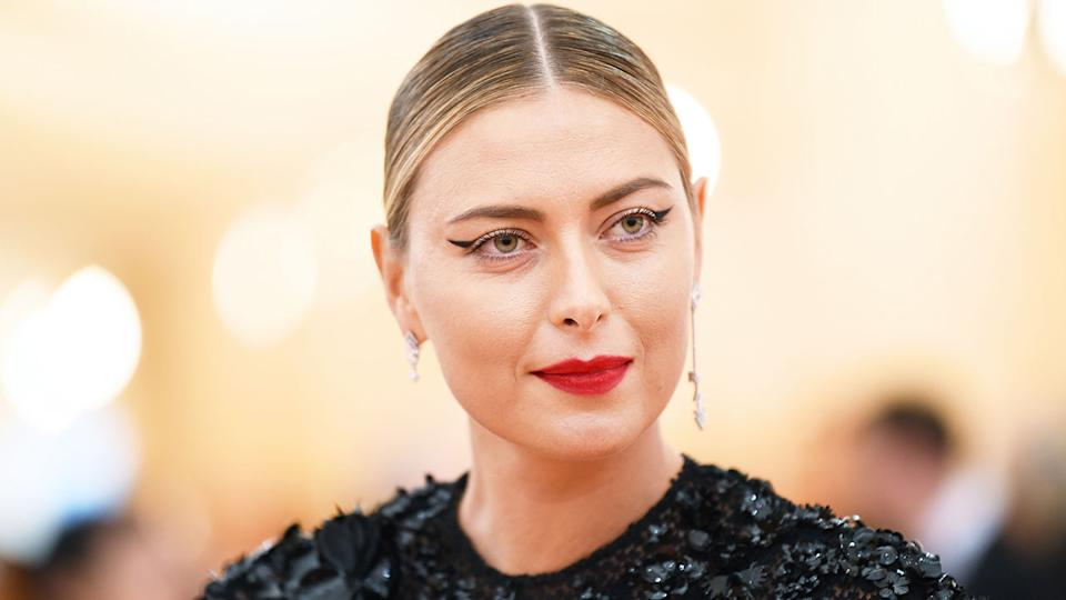 Maria Sharapova is pictured here during a fashion event in 2019.
