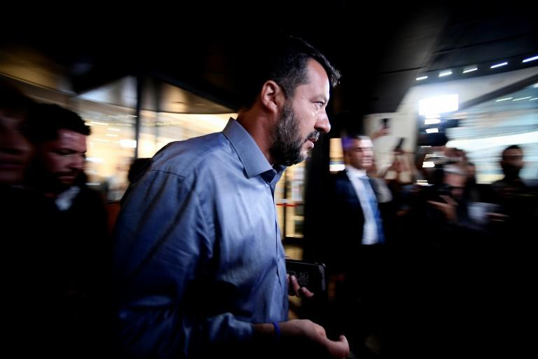 Italy's Interior Minister Matteo Salvini has called for swift elections after pulling support from the coalition government, plunging the country into turmoil (AFP Photo/Filippo MONTEFORTE)