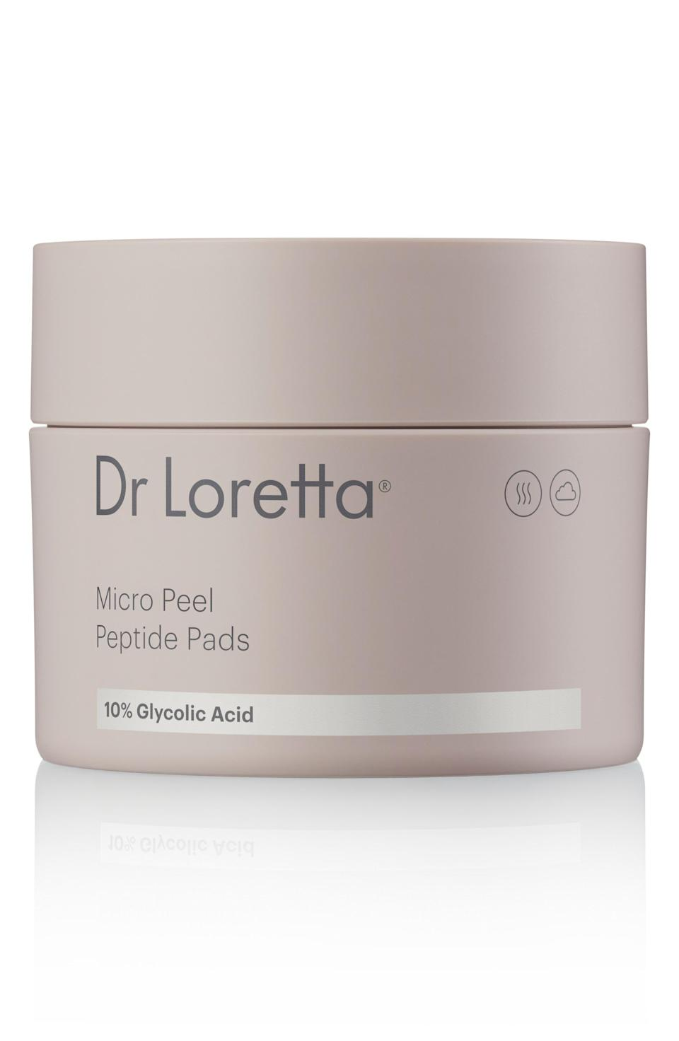 """<p><strong>Dr. Loretta</strong></p><p>nordstrom.com</p><p><strong>$60.00</strong></p><p><a href=""""https://go.redirectingat.com?id=74968X1596630&url=https%3A%2F%2Fwww.nordstrom.com%2Fs%2Fdr-loretta-micro-peel-peptide-pads%2F5096719&sref=https%3A%2F%2Fwww.oprahdaily.com%2Fbeauty%2Fg36792186%2Fbest-products-for-acne-scars%2F"""" rel=""""nofollow noopener"""" target=""""_blank"""" data-ylk=""""slk:Shop Now"""" class=""""link rapid-noclick-resp"""">Shop Now</a></p><p>These peel pads pair 10% resurfacing glycolic acid with algae peptides, which work to minimize any discomfort or irritation from the AHA.</p>"""