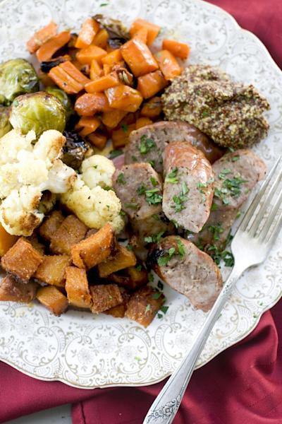 In this image taken on November 12, 2012, roasted cobb salad is shown served on a plate in Concord, N.H. (AP Photo/Matthew Mead)