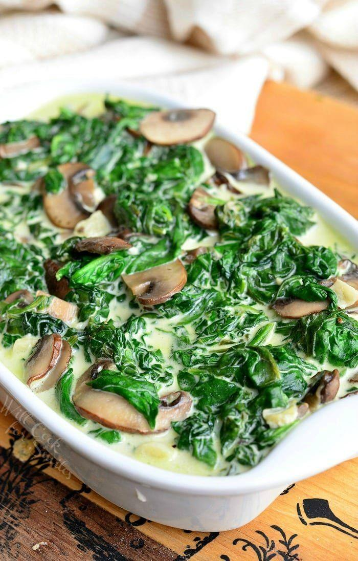 "<p>Instantly upgrade your creamed spinach recipe with mushrooms and an unforgettable sauce. They're simple additions that take this dish to the next level of delicious.</p><p><strong>Get the recipe at <a href=""https://www.willcookforsmiles.com/creamed-spinach-and-mushrooms-in-white-wine-sauce"" rel=""nofollow noopener"" target=""_blank"" data-ylk=""slk:Will Cook for Smiles"" class=""link rapid-noclick-resp"">Will Cook for Smiles</a>.</strong> </p>"