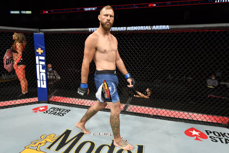 JACKSONVILLE, FLORIDA - MAY 09: Donald Cerrone prepares to fight Anthony Pettis in their heavyweight fight during the UFC 249 event at VyStar Veterans Memorial Arena on May 09, 2020 in Jacksonville, Florida. (Photo by Jeff Bottari/Zuffa LLC)