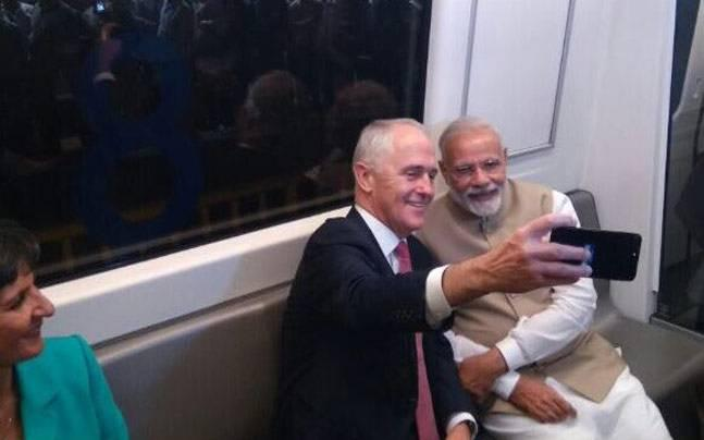 PM Modi and PM Malcolm Turnbull's day out in New Delhi: Metro ride, selfie, trip to Akshardham