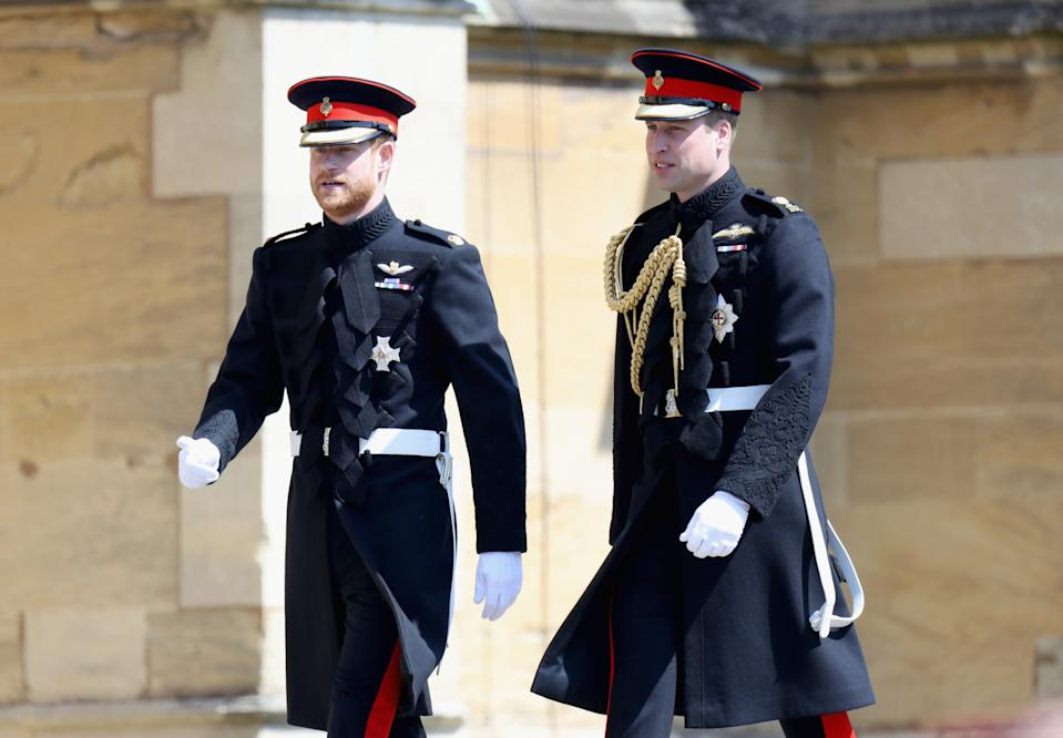 File photo dated 19/05/18 of Prince Harry (left) walking with his brother and best man, the Duke of Cambridge, as they arrived at St George's Chapel at Windsor Castle for Prince Harry's wedding to Meghan Markle. The anniversary, this year, of Diana, Princess of Wales�s death follows a turbulent time for her sons the Duke of Cambridge and the Duke of Sussex. The princess was killed suddenly in a car crash 23 years ago on August 31 1997 when William and Harry were only 15 and 12.