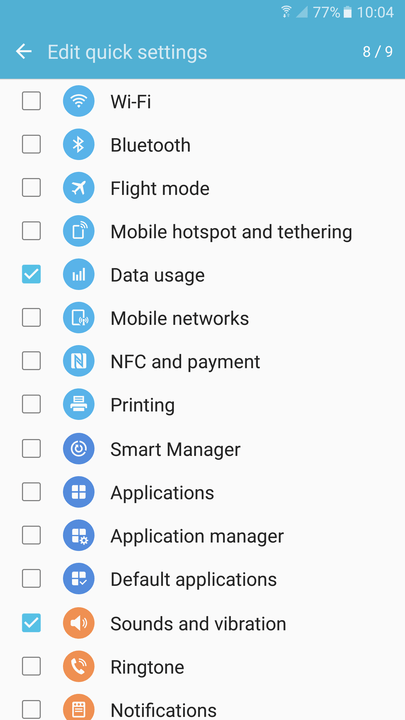 galaxy s tips and tricks edit settings