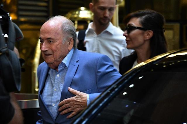 Disgraced former FIFA president Sepp Blatter arrives in Russia to attend the World Coup on the invitation of President Vladimir Putin (AFP Photo/Vasily MAXIMOV)