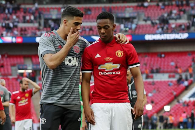 Soccer Football - FA Cup Final - Chelsea vs Manchester United - Wembley Stadium, London, Britain - May 19, 2018 Manchester United's Anthony Martial looks dejected at the end of the match Action Images via Reuters/Lee Smith