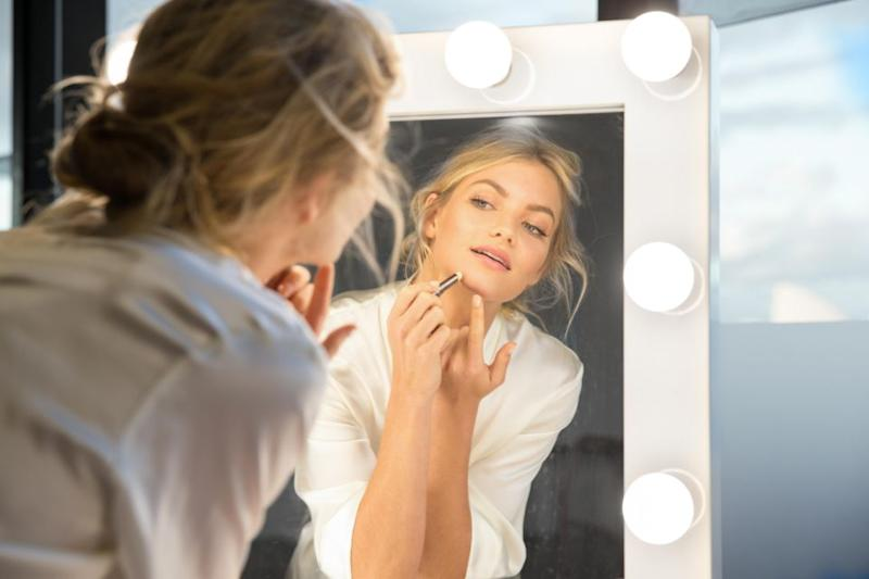 Elyse uses 'Nude by Nature' products to maintain her flawless complexion Source: Supplied