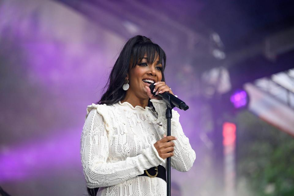 <p>Mickey Guyton celebrates her album release with a performance during the Citi Music Series on <em>Today</em> in New York City on Sept. 24. </p>