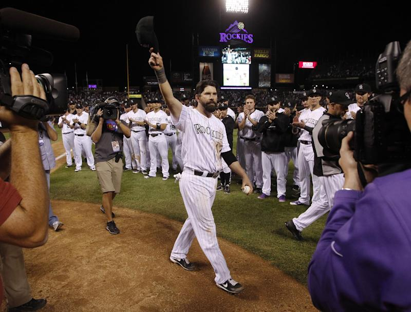 Todd Helton's Hall of Fame case is an interesting one. (AP)